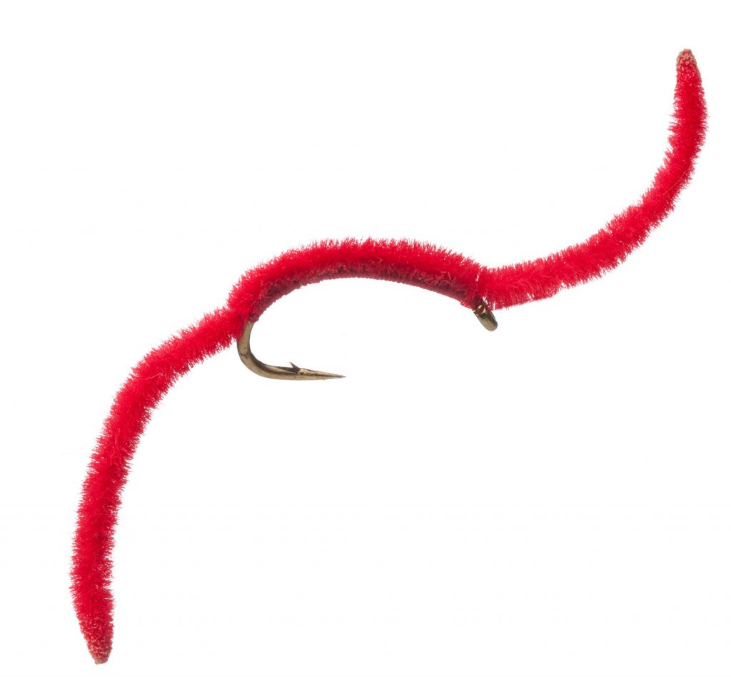 Red San Juan Worm Fly Pattern