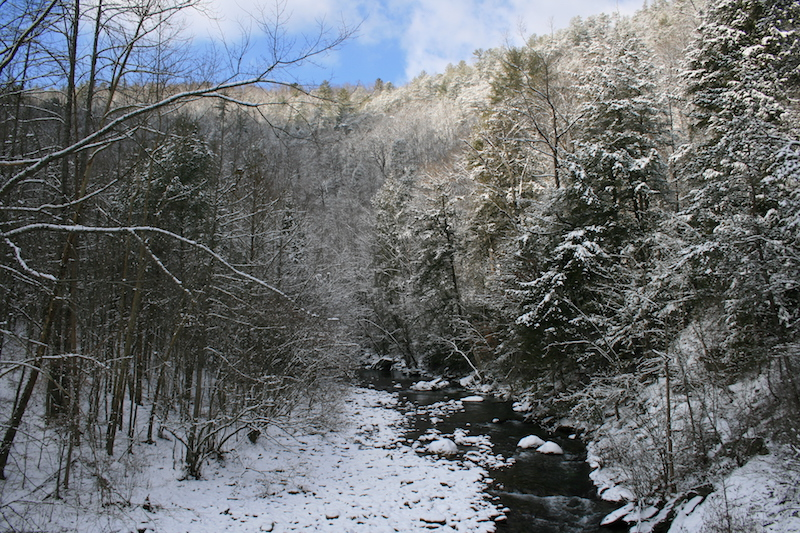 West Prong Little River Snow
