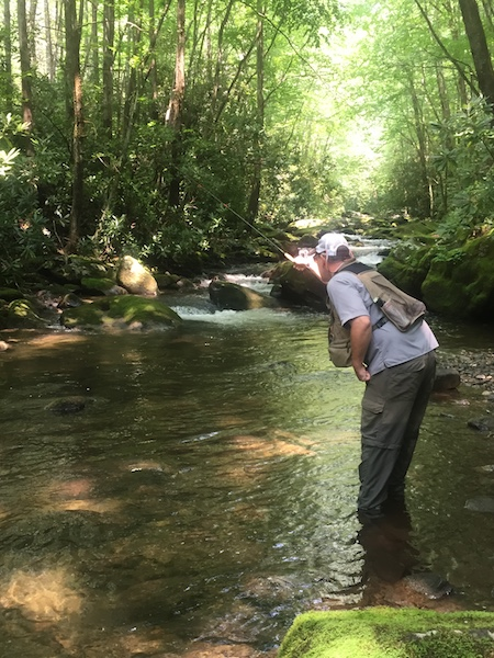 Tenkara Fishing Smoky Mountains