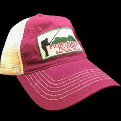 maroon mesh hat